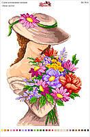Схема на Канве для вышивки нитками «Запах цветов»