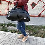 Спортивна Сумка дорожня Nike 20л зі штучної шкіри чорна (DS012), фото 5