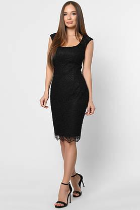 Коктейльное кружевное платье черного цвета, фото 2