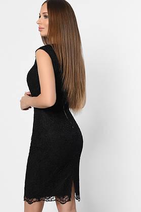 Коктейльное кружевное платье черного цвета, фото 3
