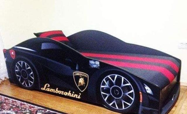 Кровать детская машина серии Elit Е-3 Lamborghini gray (Фото 3)