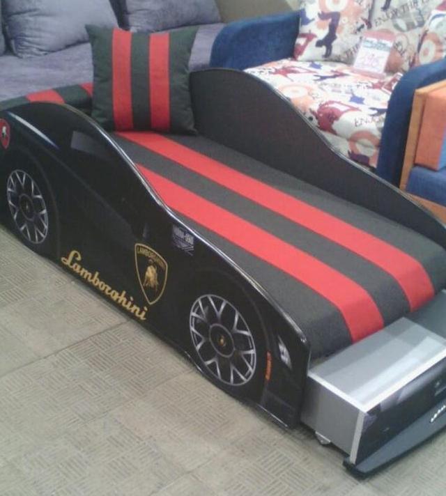 Кровать детская машина серии Elit Е-3 Lamborghini gray (Фото 4)