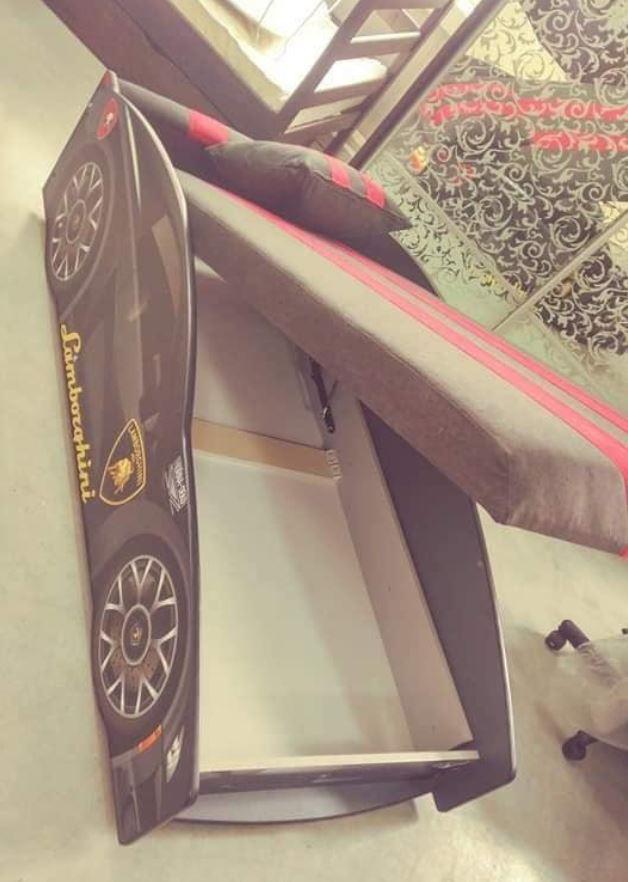 Кровать детская машина серии Elit Е-3 Lamborghini gray (Фото 5)