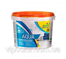 Интерьерная акриловая краска моющая Aqua Nano farb 4.2 кг