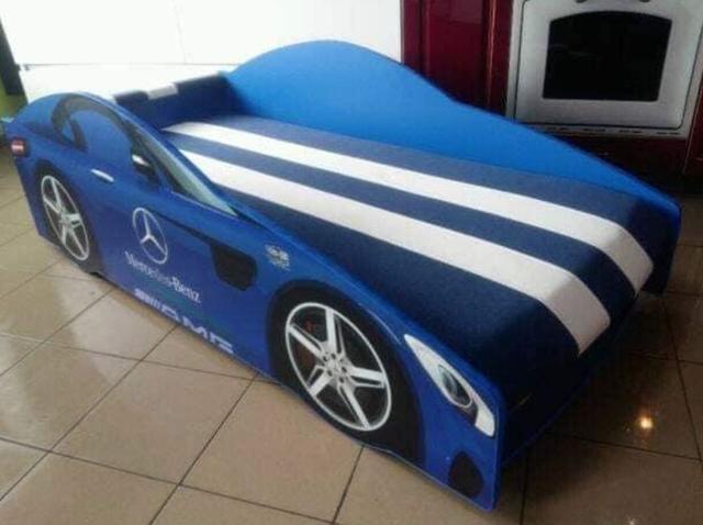 Кровать детская машина серии Elit Е-4 Mercedes blue (Фото 2)