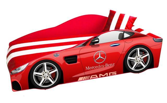 Кровать детская машина серии Elit Е-4 Mercedes red