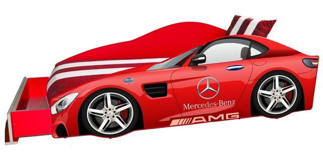 Кровать детская машина серии Elit Е-4 Mercedes red (Фото 2)