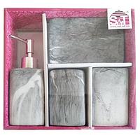 Набор аксессуаров для ванной комнаты 4 пр. Гранит SNT  888-06-021
