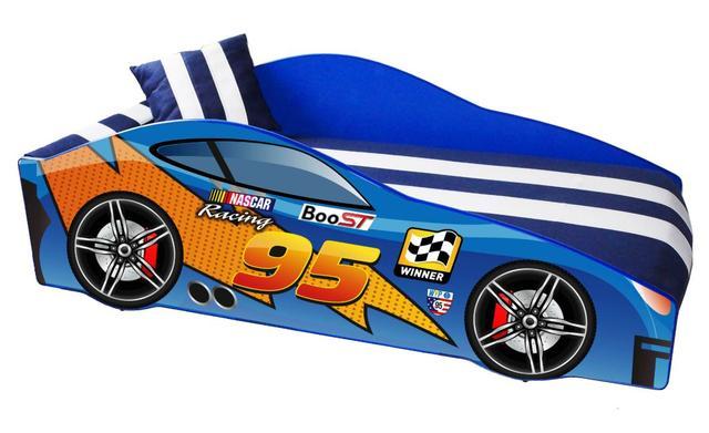 Кровать детская машина серии Elit Е-5 MC blue