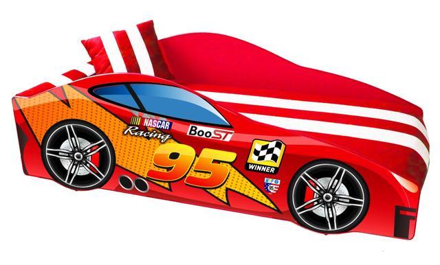 Кровать детская машина серии Elit Е-5 MC red
