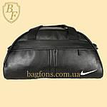 Спортивна Сумка дорожня Nike 20л зі штучної шкіри чорна (DS012), фото 7