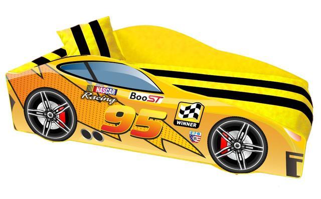 Кровать детская машина серии Elit Е-5 MC yellow