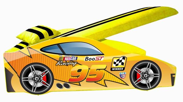 Кровать детская машина серии Elit Е-5 MC yellow (Фото 2)