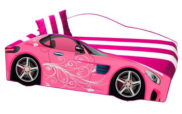 Кровать детская машина серии Elit Е-6 Pink