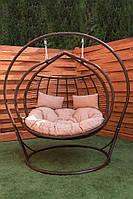Двойное подвесное кресло-кокон Галант Премиум ЮМК Купить качели садовые