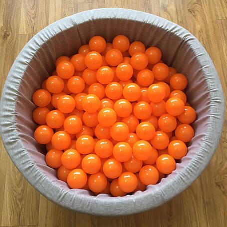 Шарики для сухого бассейна оранжевые 8 см поштучно, фото 2