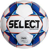 Мяч футбольный SELECT Diamond IMS NEW (310) , бел/син/оранж размер 5