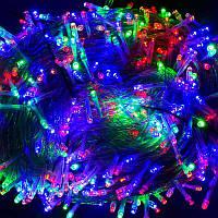 Гирлянда уличная светодиодная 1000 лампочек, 100 метров, мультиколор - 203830
