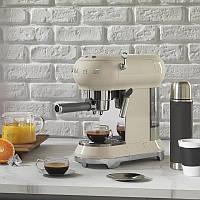 Кофеварка SMEG ESPRESSO COFFE MACHINE в стиле 50-х( кремовый)
