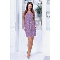 Нарядна сукня з розшитої сітки на підкладі, фото 1