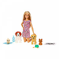 Набор кукла Барби блондинка Щенячий детский сад (FXH08), фото 1