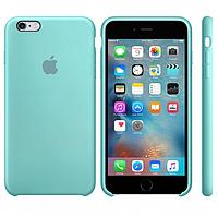 Чехол силиконовый для iPhone 6/6S. Apple Silicone Case, цвет Sea Blue (Синее море)