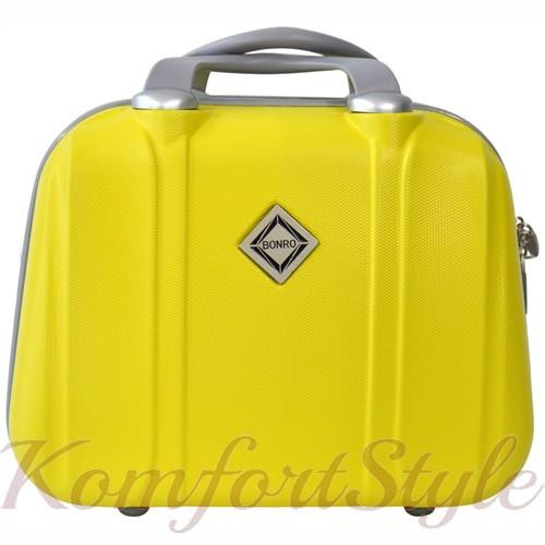 Кейс дорожный Bonro Smile средний желтый (10091404)