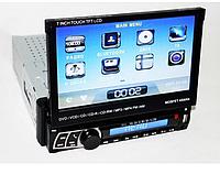 """Автомагнитола 1DIN DVD-712 с выезжающим  7"""" экраном   Автомобильная магнитола + пульт управления, фото 1"""