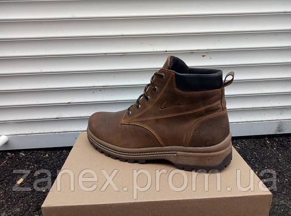 Мужские ботинки Clarks на зимний сезон, высокое качество полиуретановой подошвы, фото 2