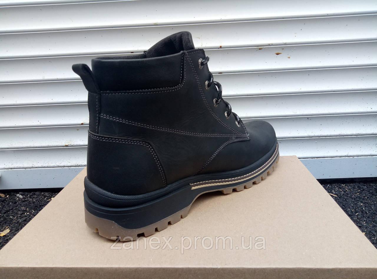 Мужские ботинки Кларкс на зимний сезон, натуральный мех