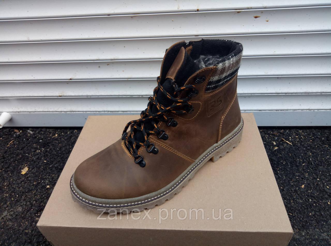 Зимние ботинки RS CREATIVE для мужчин, натуральная кожа и мех