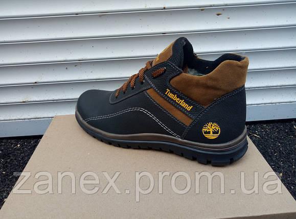 Мужские демисезонные ботинки Timberland из натуральных материалов, фото 2