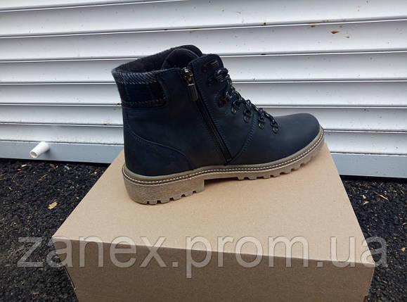 Ботинки RS Creative мужские зимние, очень теплые, натуральный мех и кожа (черные), фото 2
