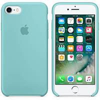 Чехол силиконовый для iPhone 6 Plus/6S Plus. Apple Silicone Case, цвет Sea Blue (Синее море)