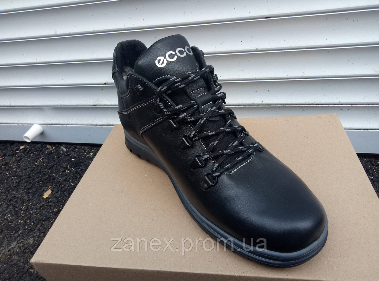 Демисезонные ботинки ECCO из натуральных материалов мужские, кожаные