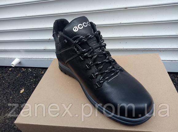 Демисезонные ботинки ECCO из натуральных материалов мужские, кожаные, фото 2