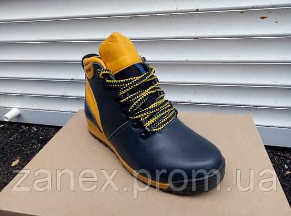 Ботинки Timberland мужские зимние, очень теплые, натуральный мех и кожа (желтые), фото 2
