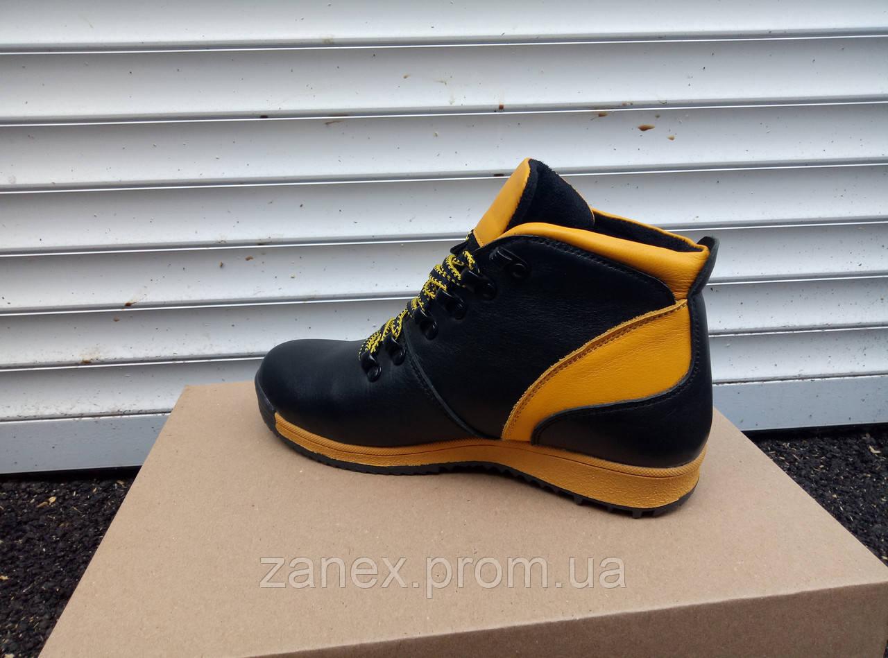 Ботинки Timberland мужские зимние, очень теплые, натуральный мех и кожа (желтые)