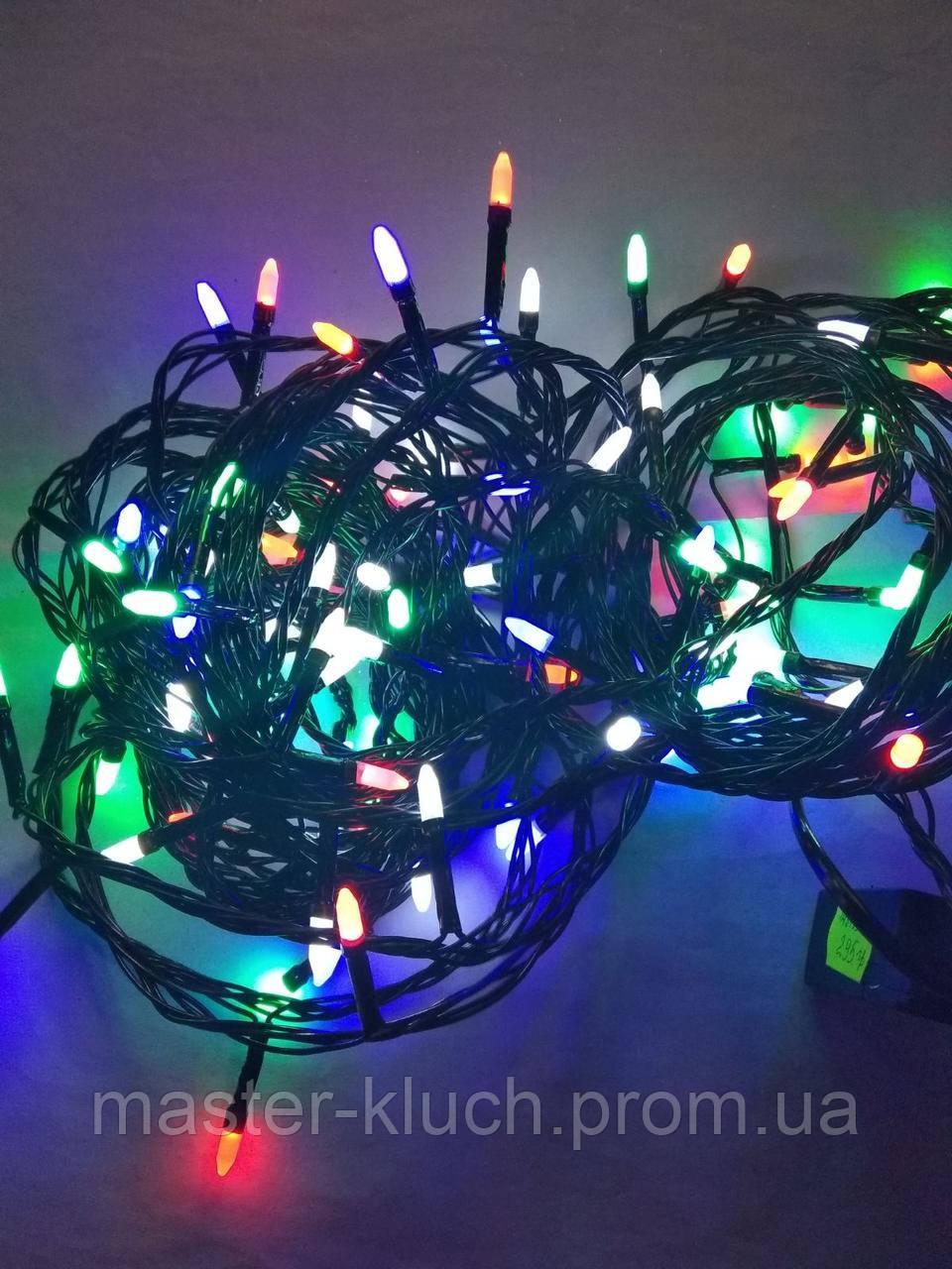 Гирлянда светодиодная Иголки 100LED 9м разноцветная