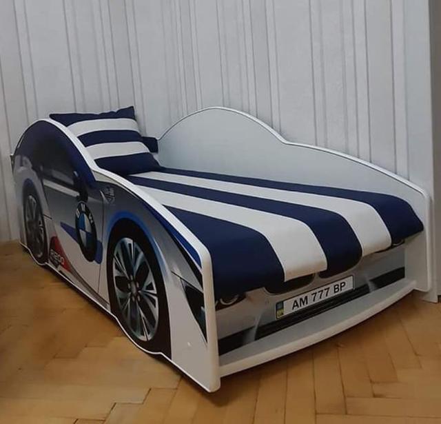 Кровать детская машина серии Elit Е-1 BMW White (Фото 2)