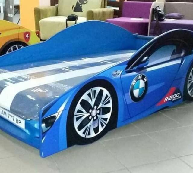 Кровать детская машина серии Elit Е-1 BMW blue (Фото 7)