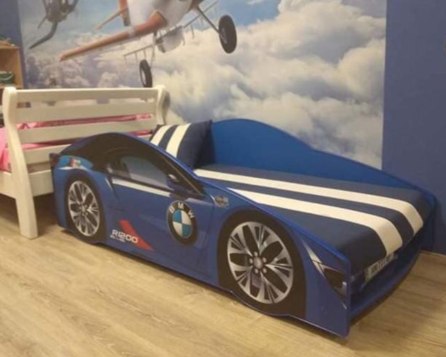 Кровать детская машина серии Elit Е-1 BMW blue (Фото 8)
