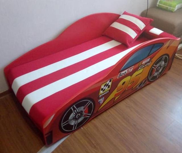 Кровать детская машина серии Elit Е-5 MC red (Фото 2)