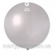 "27"" (69 см) металлик серебристый G-38 Gemar Италия латексный шар"