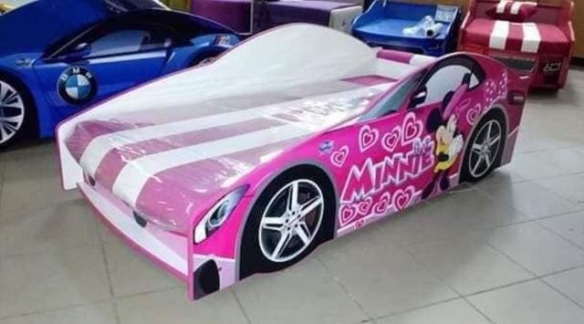 Кровать детская машина серии Elit Е-7 Pink (Фото 2)