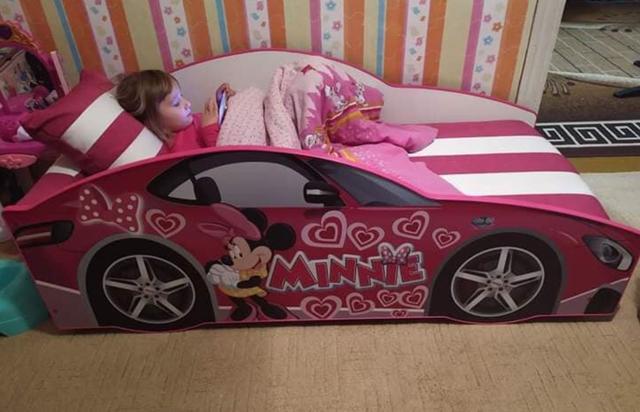 Кровать детская машина серии Elit Е-7 Pink (Фото 3)