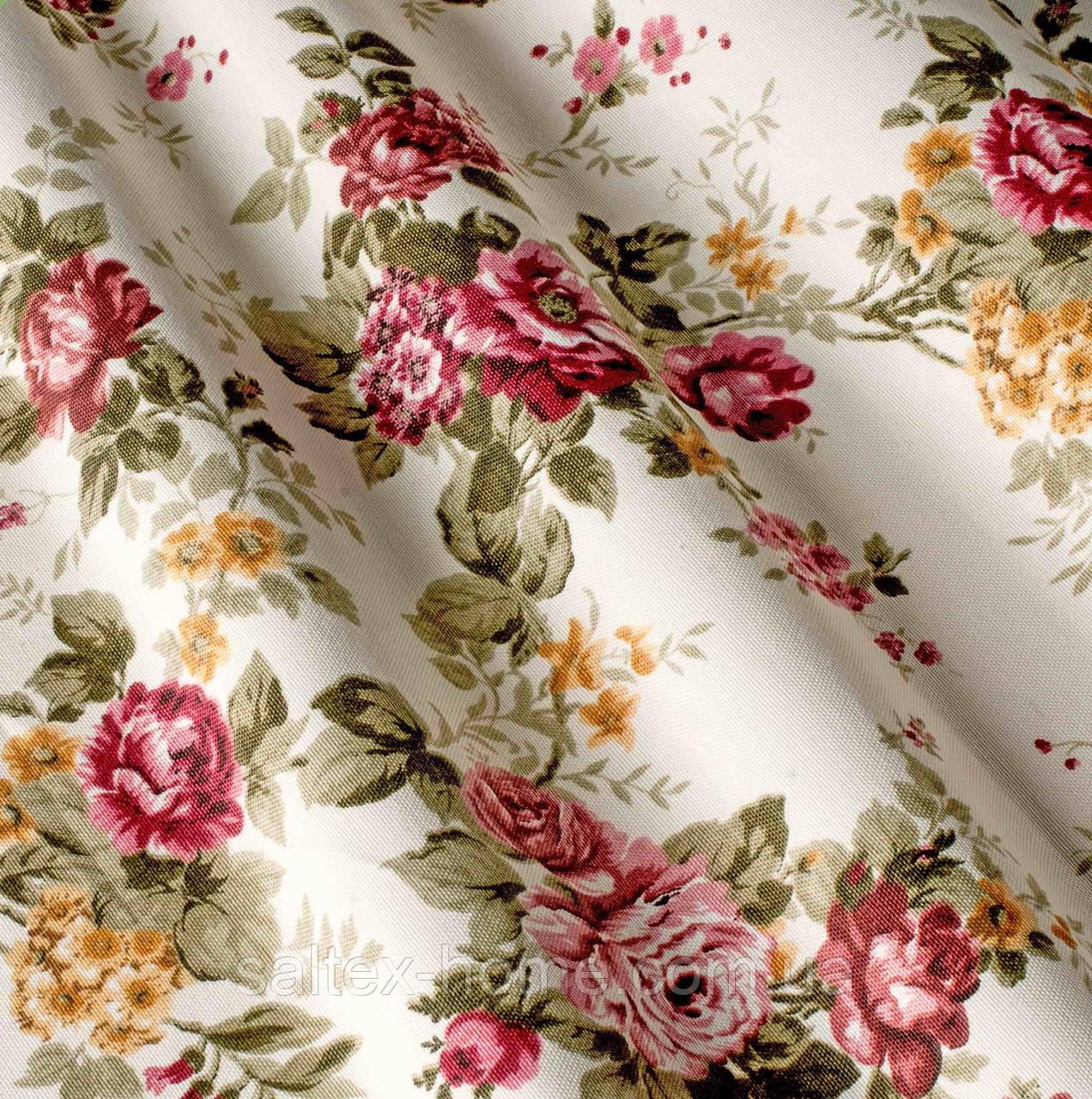 Ткань для римских штор с тефлоновым покрытием принт в стиле Прованс