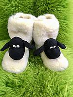 """Чуні з овечої шерсті """"Баранчик"""", фото 1"""