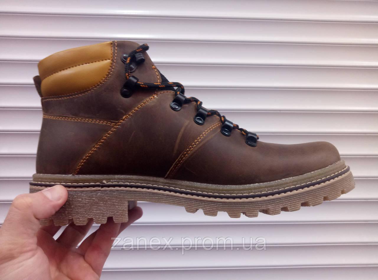 Ботинки Timberland, натуральная кожа и мех