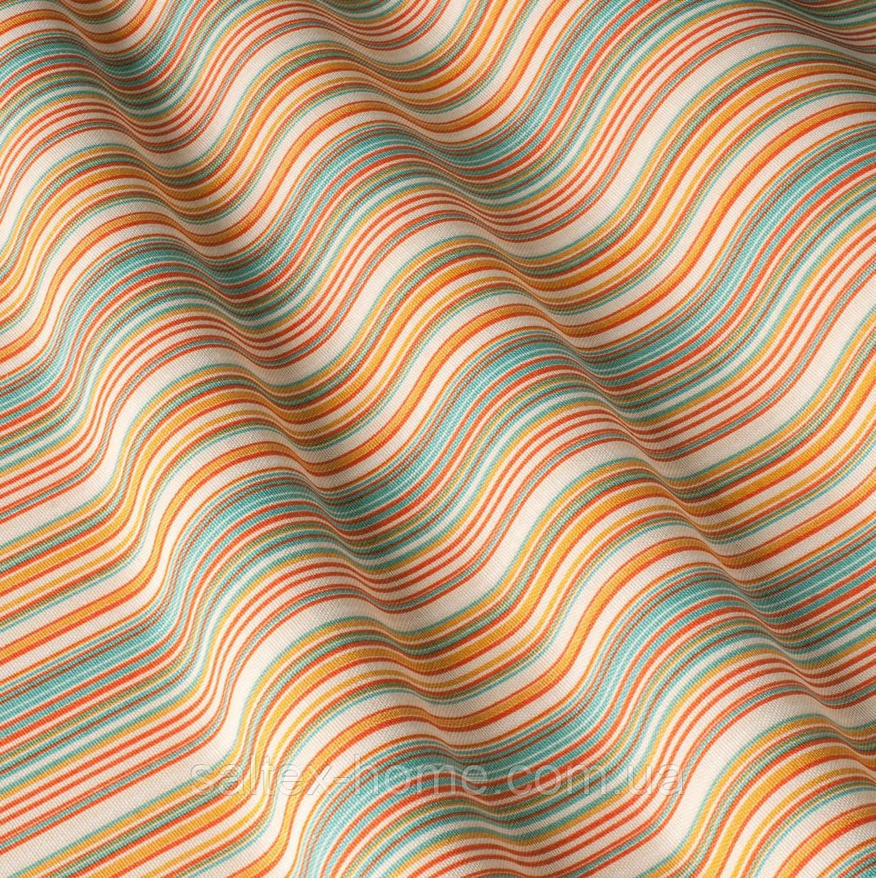 Декоративная ткань в полоску с тефлоновым покрытием